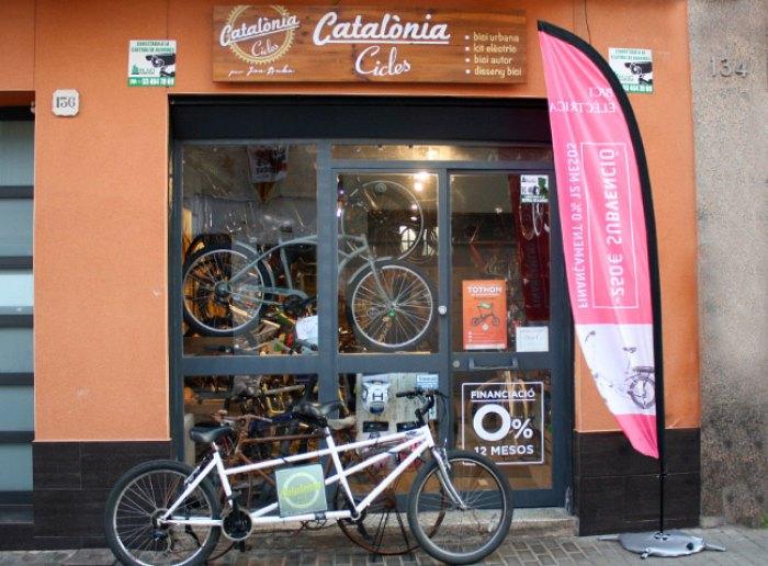 Botiga bicicletes a Badalona